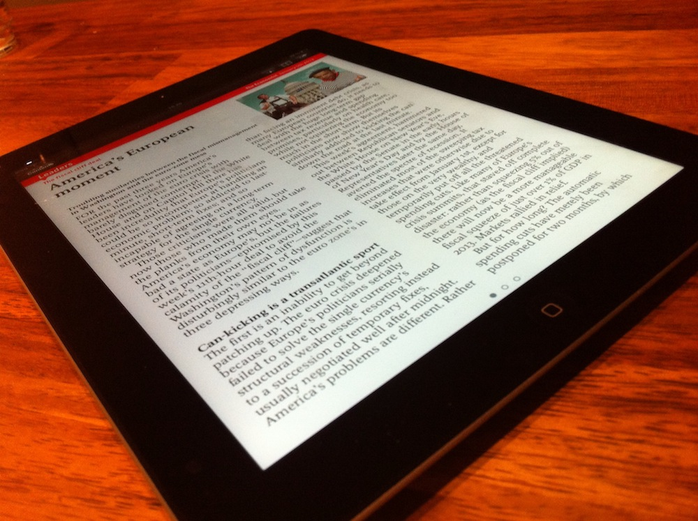 Reading with iPad 3rd generation